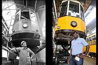 - Milan, ATM (Azienda Trasporti Milanesi), Teodosio tram depot and workshop. 1984 - 2010<br /> <br /> - Milano, ATM (Azienda Trasporti Milanesi), deposito e officina dei tram Teodosio. 1984 - 2010