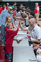 STANFORD, CA - February 1, 2014: Stanford Men's Basketball autograph session after playing against  the Arizona State Sun Devils at Maples Pavilion.  Stanford won 76-70.