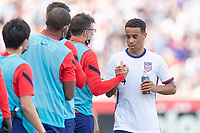 SANDY, UT - JUNE 10: Tyler Adams #4 of the United States during a game between Costa Rica and USMNT at Rio Tinto Stadium on June 10, 2021 in Sandy, Utah.