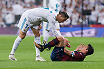 Real Madrid Cristiano Ronaldo and Eibar Ander Capa during La Liga match between Real Madrid and Eibar at Santiago Bernabeu Stadium in Madrid, Spain. October 22, 2017. (ALTERPHOTOS/Borja B.Hojas)