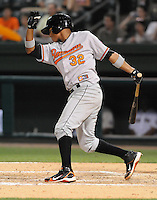 Infielder Garabez Rosa (32) of the Delmarva Shorebirds at the 2010 South Atlantic League All-Star Game on Tuesday, June 22, 2010, at Fluor Field at the West End in Greenville, S.C. Photo by: Tom Priddy/Four Seam Images