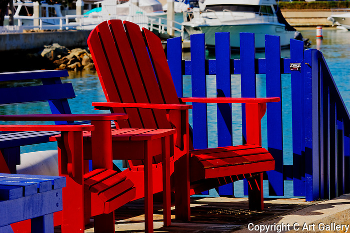 Sunning Chairs & Fence, Balboa, CA