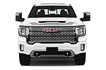 Car photography straight front view of a 2020 GMC Sierra-3500HD Denali 4 Door Pick-up Front View