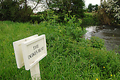 Stretch of river with private fishing rights and no public access on the Duke of Wellington's estate in North Hampshire