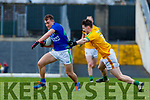 Dara Moynihan, Kerry in action against Bryan McMahon, Meath during the Allianz Football League Division 1 Round 4 match between Kerry and Meath at Fitzgerald Stadium in Killarney, on Sunday.