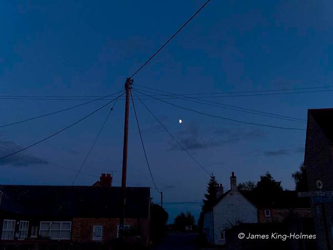 Night scene in the village of Fyfield, Oxfordshire, UK