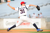 Jeremy Papelbon delivers a pitch at Smokies Park in Sevierville, TN May 21, 2009 (Photo by Tony Farlow/ Four Seam Images)