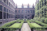 Antwerp: Courtyard of house of Balthasar Moretus, friend & business associate of Rubens.  Photo '87.