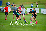 Enjoying the game of Tag Rugby at the Tralee Rugby club on Friday evening.