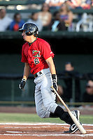 August 14, 2009: Jose Vargas of the Great Falls Voyagers. The Voyagers are Pioneer League affiliate for the Chicago White Sox. Photo by: Chris Proctor/Four Seam Images