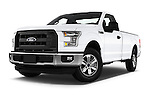 Stock pictures of low aggressive front three quarter view of 2016 Ford F 150 XL 2 Door Pickup Low Aggressive