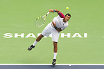 SHANGHAI, CHINA - OCTOBER 15:  Jo-Wilfried Tsonga of France serves to Andy Murray of Great Britain during day five of the 2010 Shanghai Rolex Masters at the Shanghai Qi Zhong Tennis Center on October 15, 2010 in Shanghai, China.  (Photo by Victor Fraile/The Power of Sport Images) *** Local Caption *** Jo-Wilfried Tsonga
