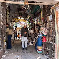 Jaipur, Rajasthan, India.  View through a Passageway.