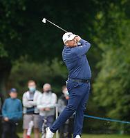 3rd July 2021; Mount Juliet Golf Club, Kilkenny, Ireland; Dubai Duty Free Irish Open Golf, Day Three; Shane Lowery of the Republic of Ireland takes his second shot on the 2nd hole