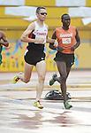 Jason Dunkerley and Josh Karanja, Toronto 2015 - Para Athletics // Para-athlétisme.<br /> Jason Dunkerley and his guide Josh Karanja compete in the Men's 5000m T11 event // Jason Dunkerley et son guide Josh Karanja participent au 5000 m T11 masculin. 10/08/2015.