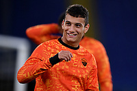 Tommaso P. Milanese of AS Roma smiles during the warm up prior to the Europa League Group Stage A football match between AS Roma and CSKA Sofia at stadio olimpico in Roma (Italy), October, 29th, 2020. Photo Andrea Staccioli / Insidefoto