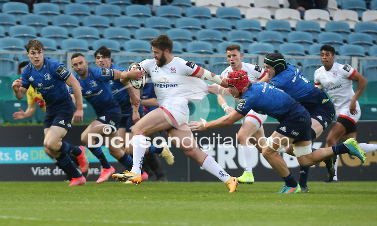 Friday 14th May 2021; Stuart McCloskey  during the Guinness PRO14 Rainbow Cup Round 3 clash between Leinster and Ulster at The RDS Arena, Ballsbridge, Dublin, Ireland. Photo by John Dickson/Dicksondigital