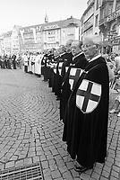 - Bonn (Germania Federale) celebrazioni religiose del Corpus Domini, cavalieri dell' Ordine Teutonico (Giugno 1982)<br /> <br /> - Bonn (Federal Germany)  religious celebration of Corpus Domini, knights of the Teutonic Order  (June 1982)