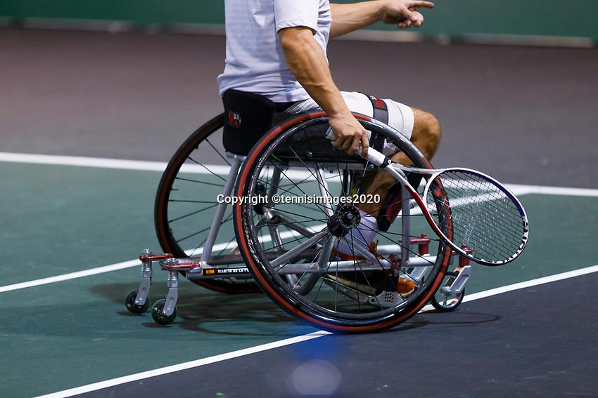 Rotterdam, The Netherlands, 12 Februari 2020, ABNAMRO World Tennis Tournament, Ahoy. Wheelchair: Martin De La Puente (ESP). <br /> Photo: www.tennisimages.com
