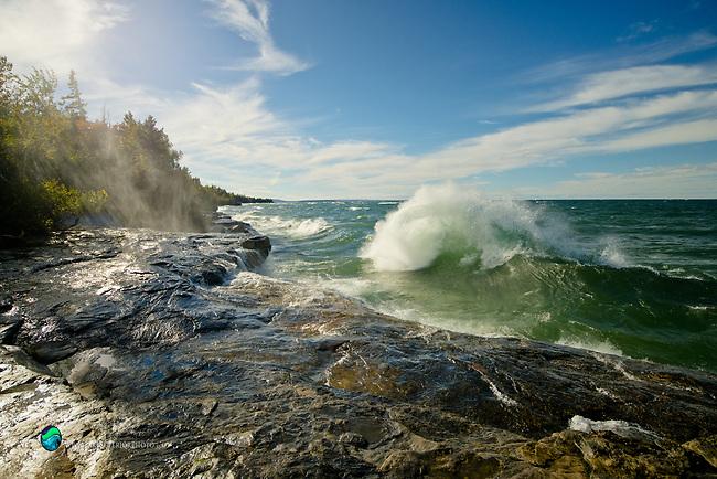 wave watching at Paradise, Lake Superior