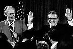 President Gerald Ford and Vice President Nelson Rockefeller, Photo by Ron Bennett,
