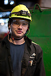 worker at Accelormittal steel products in Ostrava