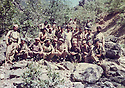 Irak 1989 <br /> A group of peshmergas in Gali Sale at the border of Turkey  after Anfal  <br /> Turquie 1989 <br /> Un groupe de peshmergas a la frontiere avec la Turquie apres la campagne de l'Anfal