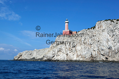 Italy, Campania, Capri: Faro Punta Carena | Italien, Kampanien, Provinz Neapel, Capri: Faro Punta Carena
