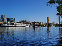A view of downtown Sacramento riverfront, California, US.