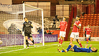 11th February 2021; Oakwell Stadium, Barnsley, Yorkshire, England; English FA Cup 5th round Football, Barnsley FC versus Chelsea; Christian Pulisic of Chelsea goes close to a goal for Chelsea in the first half