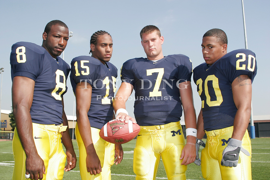 .Michigan football media day on Monday, August 8, 2005 at Schembechler Hall in Ann Arbor, MI (AP Photo/Tony Ding)