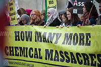 13.04.2017 - 'How Many More Chemical Massacres' - Protest In Trafalgar Square