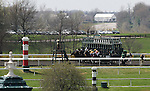 April 12, 2014:  The start of the 3rd race at Keeneland racecourse.  Candice Chavez/ESW/CSM