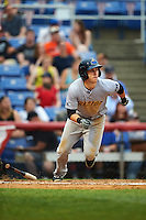 Trenton Thunder center fielder Dustin Fowler (10) during a game against the Binghamton Mets on May 29, 2016 at NYSEG Stadium in Binghamton, New York.  Trenton defeated Binghamton 2-0.  (Mike Janes/Four Seam Images)