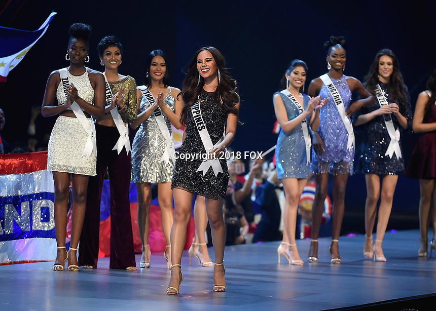 BANGKOK, THAILAND - DECEMBER 17:  Miss Philippines Cartiona Gray at the 2018 MISS UNIVERSE competition at the Impact Arena in Bangkok, Thailand on December 17, 2018. (Photo by Frank Micelotta/FOX/PictureGroup)