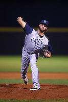 Brooklyn Cyclones pitcher Craig Missigman (26) delivers a pitch during a game against the Tri-City ValleyCats on September 1, 2015 at Joseph L. Bruno Stadium in Troy, New York.  Tri-City defeated Brooklyn 5-4.  (Mike Janes/Four Seam Images)