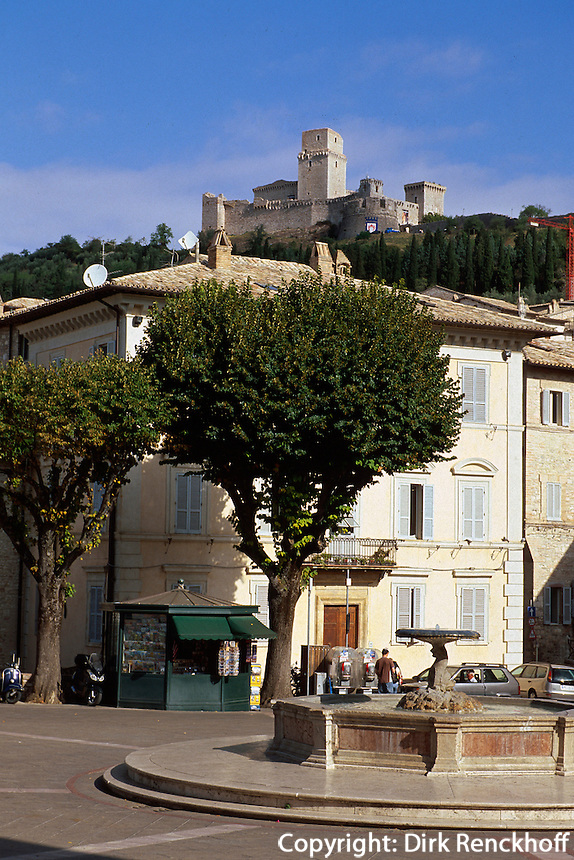 Italien, Umbrien, Burg Rocca Maggiore in Assisi