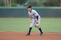 AZL White Sox second baseman Kevin Maldonado (5) during an Arizona League game against the AZL Dodgers at Camelback Ranch on July 7, 2018 in Glendale, Arizona. The AZL Dodgers defeated the AZL White Sox by a score of 10-5. (Zachary Lucy/Four Seam Images)