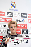 Norwegian soccer player Martin Odegaard is presented as new player of the Real Madrid at Bernabeu at Real Madrid City in Madrid. January 22, 2015. (ALTERPHOTOS/Caro Marin)