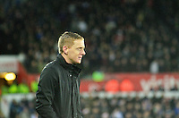 Pictured: Friday 26 December 2014<br /> Re: Premier League, Swansea City FC v Aston Villa at the Liberty Stadium, Swansea, south Wales, UK.<br /> <br /> Swansea's manager Garry Monk