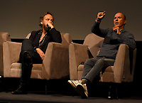 """NEW YORK CITY - OCTOBER 5: Peter Sarsgaard and Michael Keaton attend a SAG Screening of Hulu's """"DOPESICK"""" at the Museum of Modern Art on October 5, 2021 in New York City. . (Photo by Frank Micelotta/Hulu/PictureGroup)"""