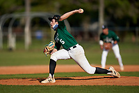 Pitcher Cooper Consiglio (5) during the Perfect Game National Underclass East Showcase on January 23, 2021 at Baseball City in St. Petersburg, Florida.  (Mike Janes/Four Seam Images)