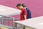 Spain's Sergio Canales injured during UEFA Nations League 2020 League Phase match. 17 November 2020 .(ALTERPHOTOS/Acero)