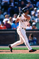 SAN FRANCISCO, CA - Armando Rios of the San Francisco Giants bats during a game at Pacific Bell Park on May 28, 2001 in San Francisco, California. (Photo by Brad Mangin)