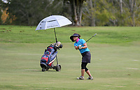 "A player isolates during a solo round at Whitford park. Golf during Level 3 Covid 19 isolation regulations. Players playing as part of their ""bubble"" or solo. Whitford park and Formosa Golf Courses. Thursday 30 April 2020. Photo: Simon Watts/www.bwmedia.co.nz"