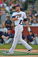 Tennessee Smokies third baseman Kris Bryant #17 swings at a pitch during the Southern League Home Run Derby at Engel Stadium on June 16, 2014 in Chattanooga, Tennessee.  (Tony Farlow/Four Seam Images)