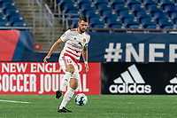 FOXBOROUGH, MA - AUGUST 21: Kyle Venter #12 of Richmond Kickers collects a pass during a game between Richmond Kickers and New England Revolution II at Gillette Stadium on August 21, 2020 in Foxborough, Massachusetts.