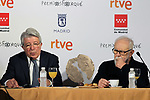 Director Gonzalo Suarez and EGEDA President Enrique Cerezo attend Jose Maria Forque Awards - Golden Medal presentation at Palacio de Santona on December 19, 2019 in Madrid, Spain.(ALTERPHOTOS/ItahisaHernandez)