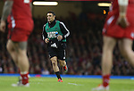 All Black Dan Carter playing a support role at todays match.<br /> Dove men Series 2014<br /> Wales v New Zealand<br /> 22.11.14<br /> ©Steve Pope -SPORTINGWALES