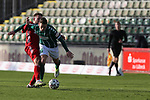 22.11.2020, Dietmar-Scholze-Stadion an der Lohmuehle, Luebeck, GER, 3. Liga, VfB Luebeck vs FC Bayern Muenchen II <br /> <br /> im Bild / picture shows <br /> Timo Kern (FC Bayern Muenchen II) im Zweikampf gegen Florian Riedel (VfB Luebeck) <br /> <br /> DFB REGULATIONS PROHIBIT ANY USE OF PHOTOGRAPHS AS IMAGE SEQUENCES AND/OR QUASI-VIDEO.<br /> <br /> Foto © nordphoto / Tauchnitz